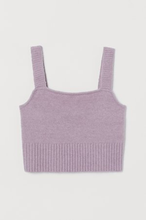 Cropped top - Light purple - Ladies | H&M GB