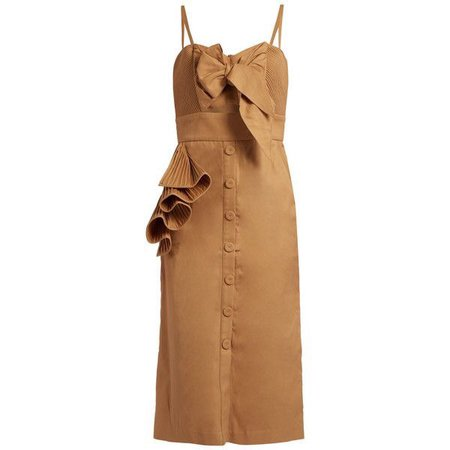 Johanna Ortiz Soledad ruffled cotton-drill dress (1,785 ILS)