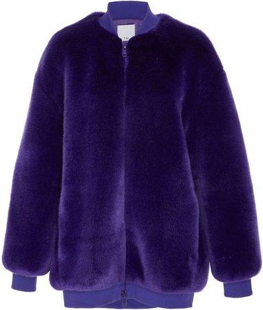 Tibi Luxe Faux Fur Jacket