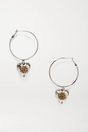 Silver Silver- and gold-tone hoop earrings | Alexander McQueen | NET-A-PORTER