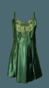green nightgown