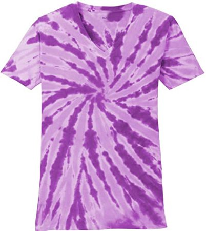 Joe's USA Koloa Ladies Colorful Tie-Dye V-Neck Tees in 10 Colors Sizes: XS-4XL at Amazon Women's Clothing store