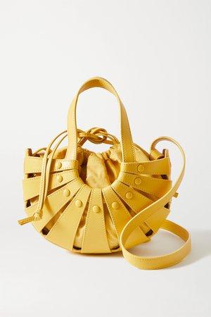 Yellow The Shell leather shoulder bag   Bottega Veneta   NET-A-PORTER