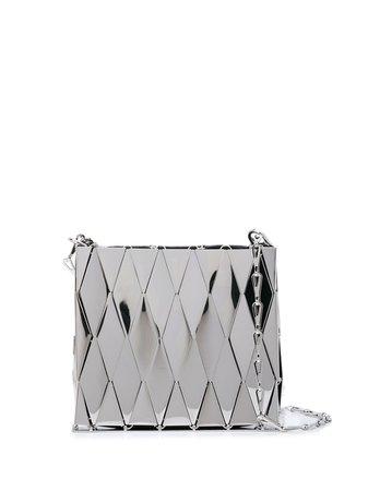 Paco Rabanne Metallic Tile Shoulder Bag 19HSS0107MET063 Silver | Farfetch