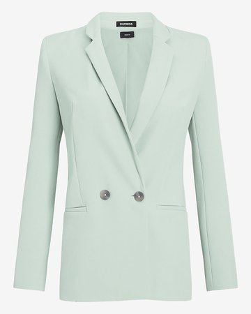 Express - Supersoft Twill Double Breasted Blazer