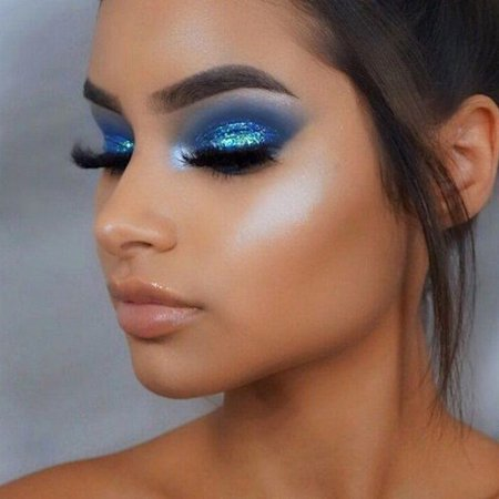 65 Eye-Catching Blue Eyeshadow makeup Looks for Prom 💙 - Page 48 of 66 - MERNUR Blog