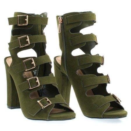 Military Green Heels