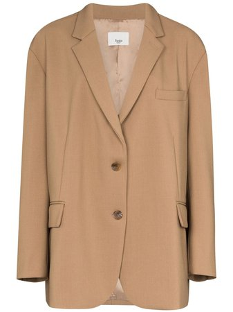 Frankie Shop Bea Single-Breasted Boxy Blazer Aw20 | Farfetch.Com