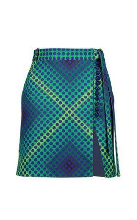 Optical-Printed Mini Skirt By Paco Rabanne   Moda Operandi