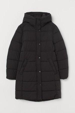 Padded Hooded Jacket - Black - Ladies | H&M US