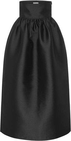 Harris Tapper Emme Pleated Satin Maxi Skirt