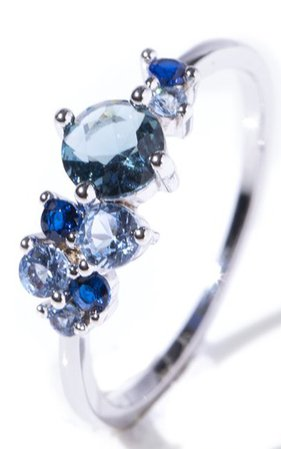 Silver Blue Stoned Ring