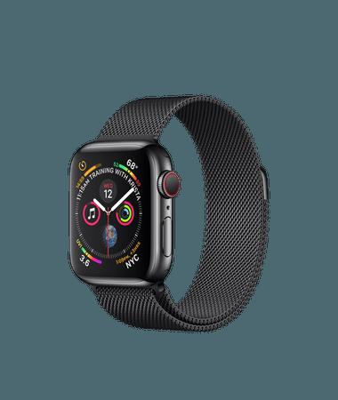 Apple Watch - Space Black Stainless Steel Case with Space Black Milanese Loop - Apple