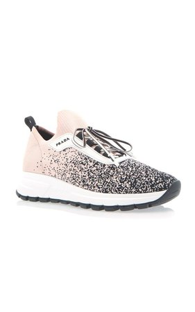 Intarsia Stretch-Knit Sneakers by Prada | Moda Operandi