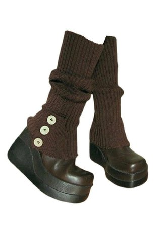 Brown Boots/Clogs w/ Leg Warmers