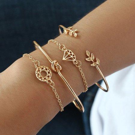 4 Gold Bracelet