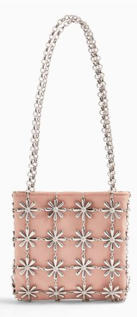 TOPSHOP daisy pink cage bag
