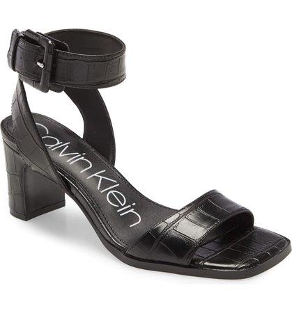 Calvin Klein Damita Ankle Strap Sandal (Women) | Nordstrom