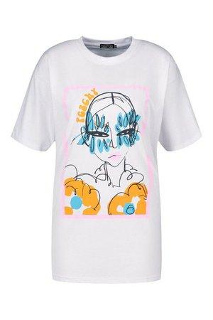 Peachy Graphic T-Shirt   boohoo
