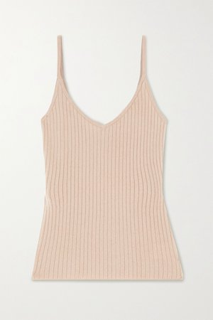 Sand Ribbed cashmere tank | Arch4 | NET-A-PORTER