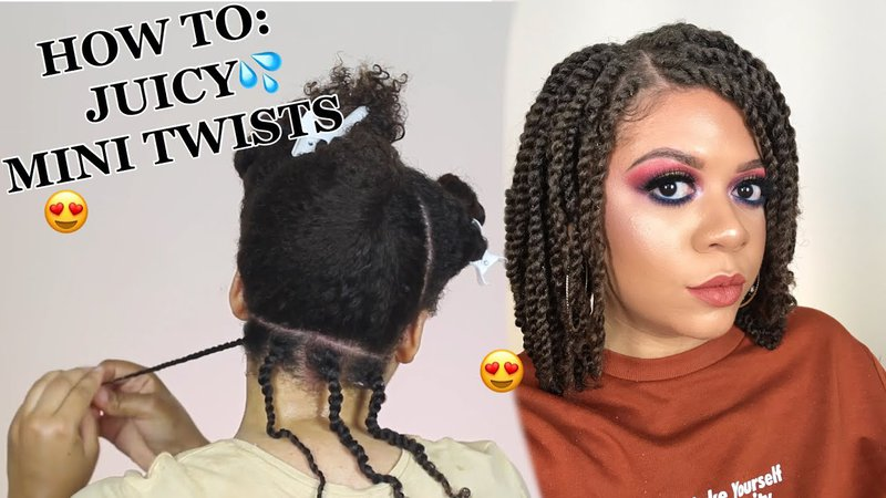 How To Do Mini Twists On Natural Hair As A Protective Style - No Added Hair Needed! (DETAILED) Watch (16:44) Uploaded by: JeanetteJBeauty, Dec 10, 2018