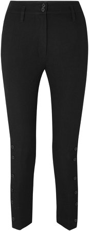 Cropped Wool And Cotton-blend Twill Skinny Pants