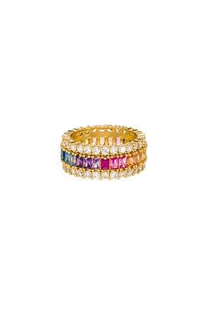 Three Row Rainbow Ring