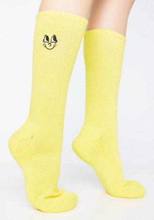 Lazy Oaf Pink N' Yellow Sock Pack | Dolls Kill