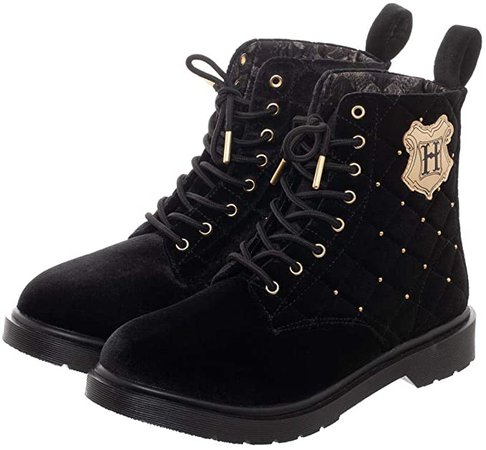 Amazon.com: Harry Potter Quilted Womens Combat Boots: Clothing