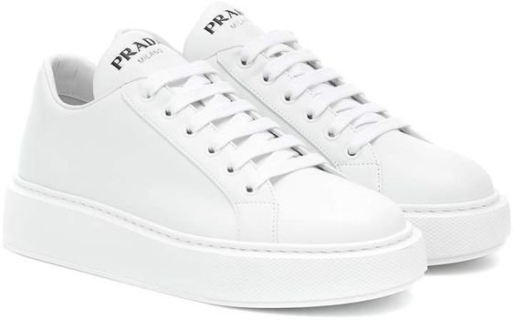 White PRADA sneakers