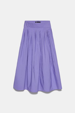 PLEATED SKIRT | ZARA United States lilac