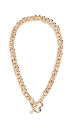 Stella + Ruby Chain Necklace Heart Clasp | SHOPBOP