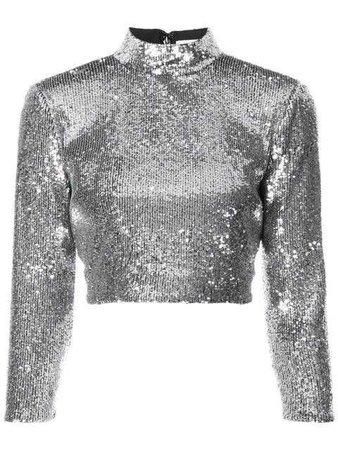 A.L.C. Cropped Sequin Top