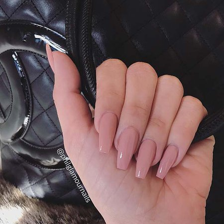 nude acrylic nails - Google Search