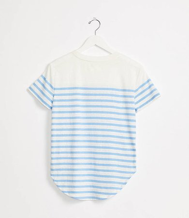 Striped Softserve Slub Shirttail Tee | Lou & Grey