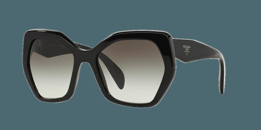 Prada PR 16RS 56 Grey & Black Sunglasses | Sunglass Hut USA