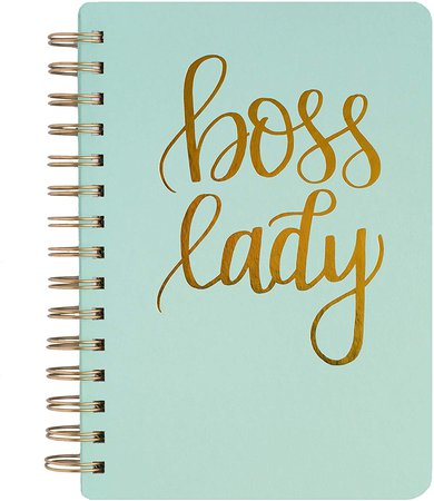 Amazon.com : Mint Boss Lady Lined Spiral Notebook Journal Gold Office Decor Chic Empowerment Girl Boss Babe Writing Entrepreneur Inspirational : Office Products