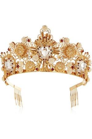 Dolce & Gabbana | Gold-tone Swarovski crystal crown | NET-A-PORTER.COM