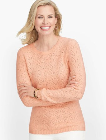 Pointelle Crewneck Sweater | Talbots