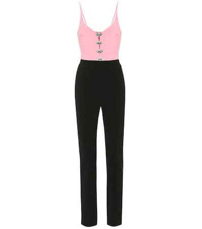 Embellished cady jumpsuit
