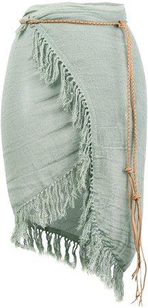 Caravana fringed wrap skirt