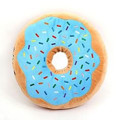 Donut Pillow (Blue or Pink icing!)