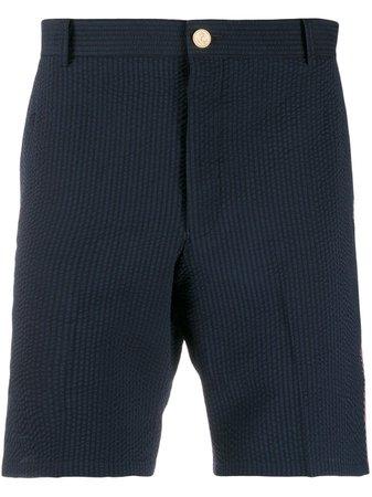 Thom Browne RWB Seersucker 18cm Shorts - Farfetch