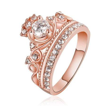 Rose Gold Queen Ring – Sugar & Cotton