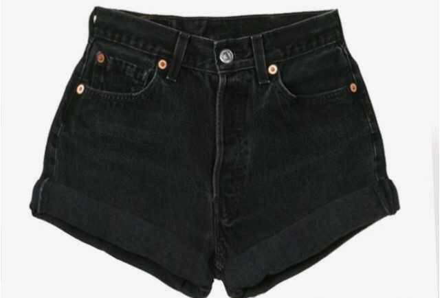 black levi's shorts high waisted levis