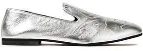 Unity Embroidered Metallic Leather Loafers