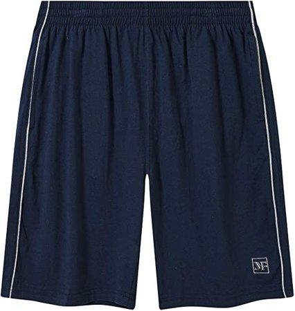 AIRIKE Men Pajama Shorts Cotton Man Sleep Shorts Soft Woven Lounge Shorts Elastic Waistband with Pockets Navy at Amazon Men's Clothing store