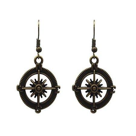 Pirate navigation earrings