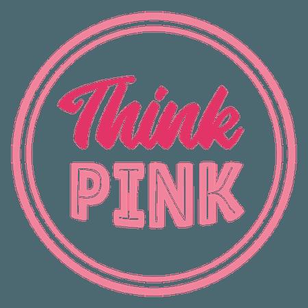 Awareness think pink lettering - Transparent PNG & SVG vector file