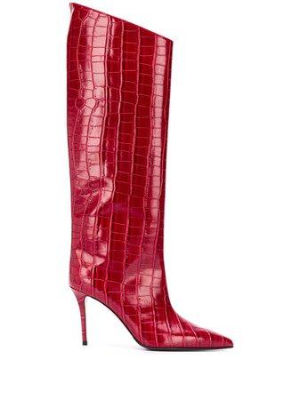 Le Silla croc effect boots - FARFETCH